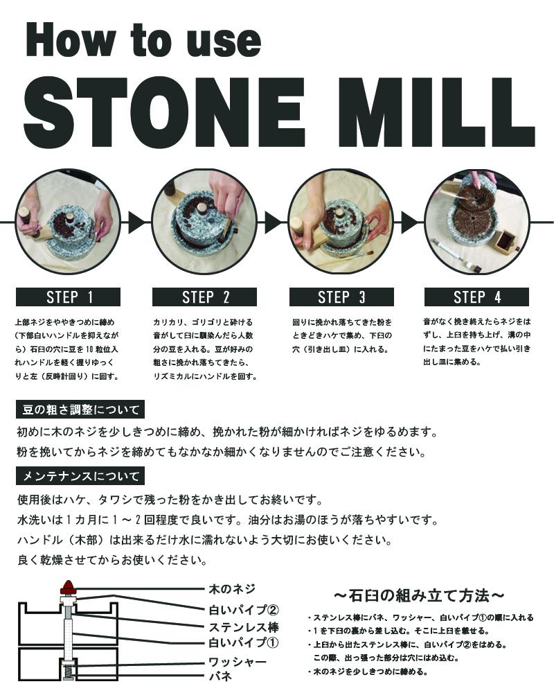 石臼の使い方のコピー
